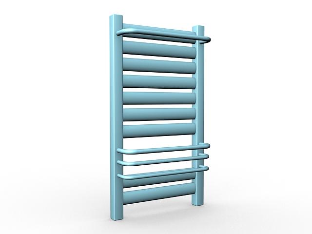 Towel heating radiator 3d rendering