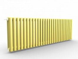 Horizontal panel radiators 3d preview