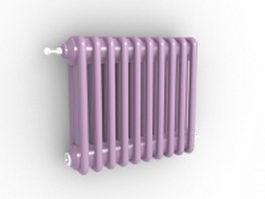 Vertical radiant heater 3d model preview