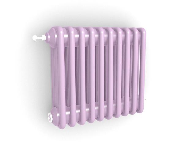Vertical radiant heater 3d rendering