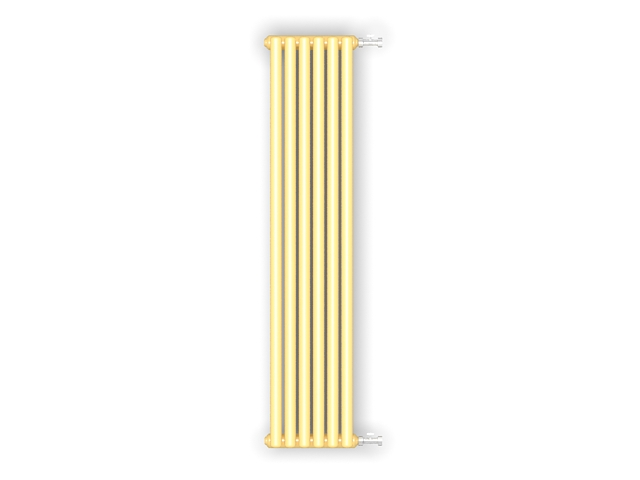 Vertical column radiators 3d rendering