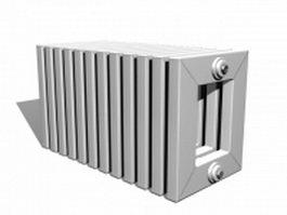 Radiator bench 3d model preview