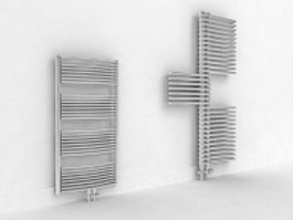 Modern steam radiators 3d preview
