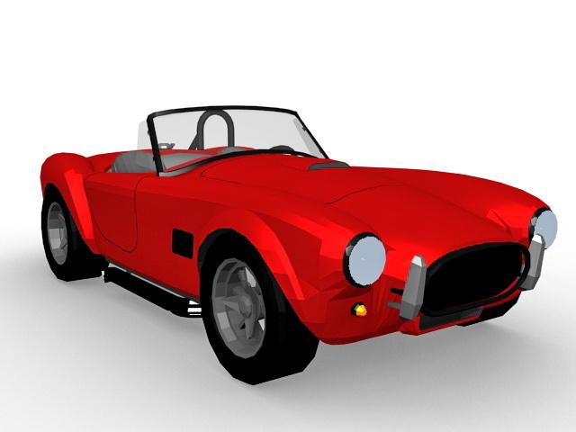 Vintage roadster 3d rendering