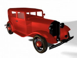 Old classic car 3d model preview