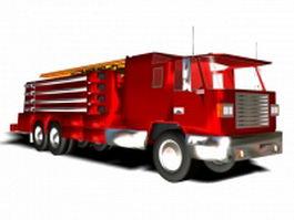 Fire ladder truck 3d preview