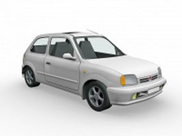 3 Doors Hatchback Nissan 3d preview