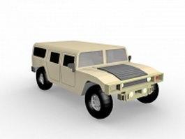 Hummer Humvee truck 3d preview