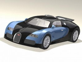 Bugatti Veyron super sport car 3d preview