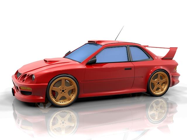 Subaru BRZ Concept 3d model 3ds Max files free download ...