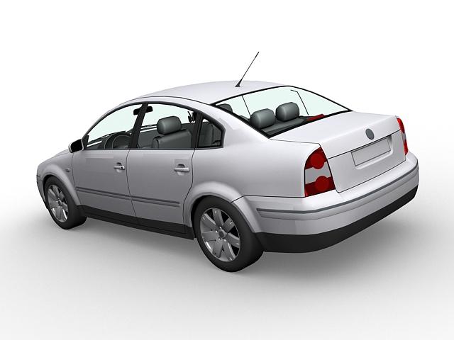 Volkswagen Passat 3d rendering