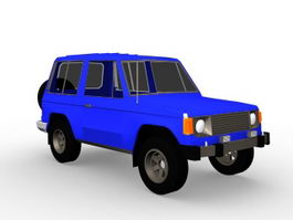 4x4 SUV vehicle 3d model preview