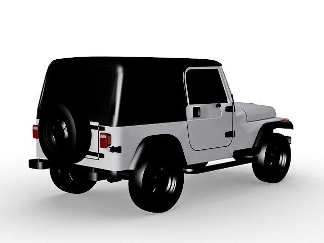 Jeep Wrangler Sahara 3d rendering