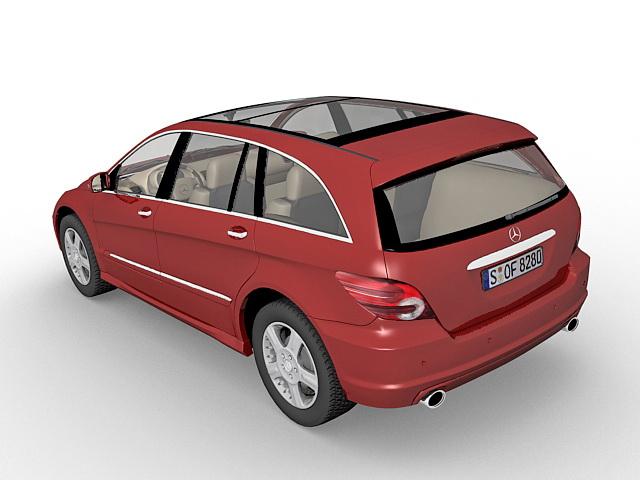 Mercedes R-Class MPV 3d rendering