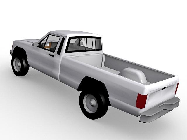 Jeep Pickup Truck 3d rendering