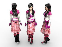 Ancient Chinese girl 3d preview