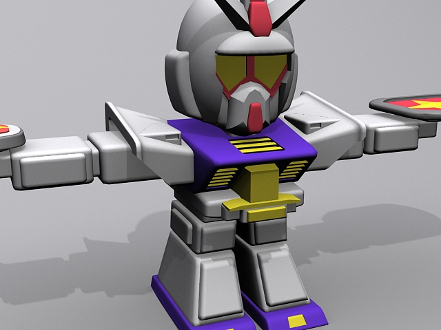 Mobile suit gundam 3d rendering