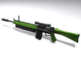 M16 assault rifle 3d model preview