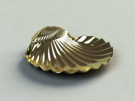 Vintage shell soap dish 3d preview