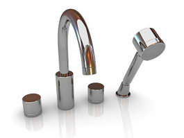 Wall mount bathroom sink faucets 3d preview