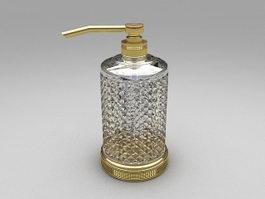 Glass soap dispenser 3d preview