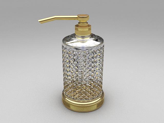 Glass soap dispenser 3d rendering
