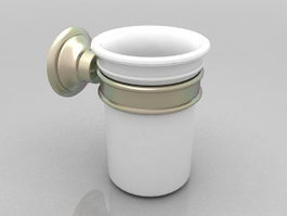 Toothbrush tumbler holder 3d preview