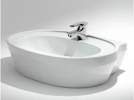 Modern freestanding tub 3d preview