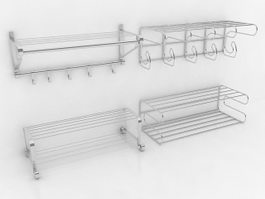 Towel racks collection 3d preview