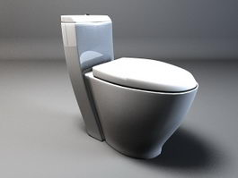 Compact toilet 3d preview