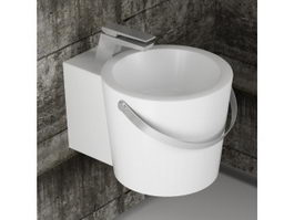 Wall mounted bathroom sink 3d preview
