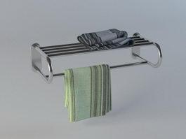 Double towel rack 3d preview