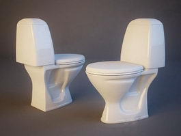 Classic WC toilet 3d preview