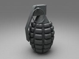 Hand grenade 3d model preview