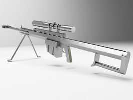 Sniper rifle 3d model preview