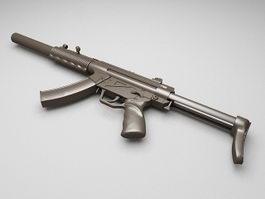 Hkmp5 Submachine gun 3d model preview