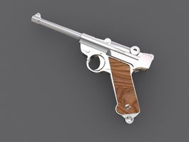 Walther P38 Pistol 3d model preview