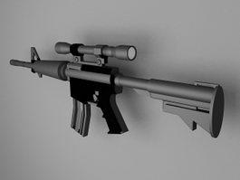 M4 carbine 3d model preview