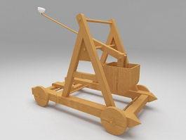 Medieval trebuchet 3d model preview