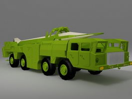 Mobile missile truck 3d model preview