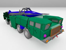 Military vehicle rocket launcher 3d model preview