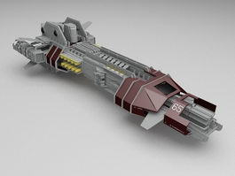 Sci-Fi Spaceship 3d model preview