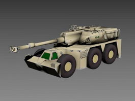 G6 self-propelled howitzer 3d model preview