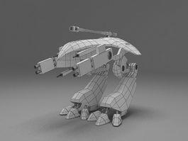 Futuristic robots weapon 3d preview