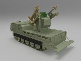 Chaparral missile launcher 3d model preview
