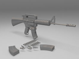 M4A1 carbine assault rifle 3d preview