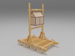Medieval siege engine 3d model preview