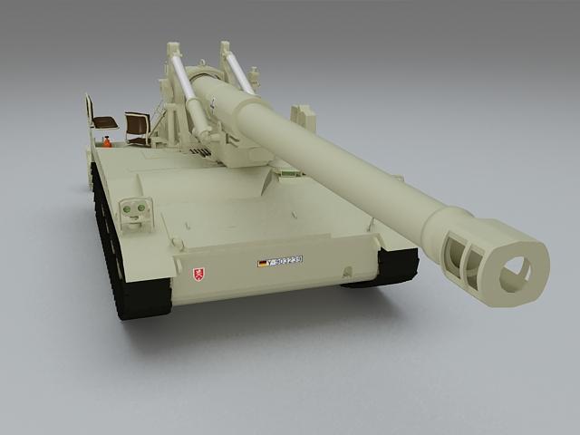 M110 howitzer 3d rendering