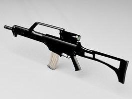 HK G36 assault rifle 3d model preview