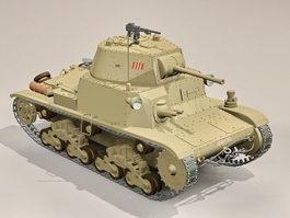 Italian M13 tank 3d model preview